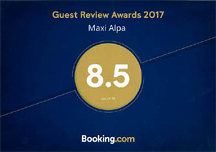Booking.com「クチコミアワード2017(Guest Review Awards 2017)」を受賞